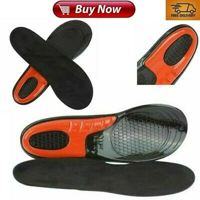 £5.37 • Buy Work Boot Insoles Hiking Trainer Inner Soles Foot Inserts Silicone Gel Sizes