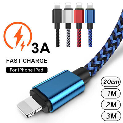 AU10.12 • Buy For IPhone 8 7 6 Plus 5 SE X 11 Charger USB Data Cable Fast Charge Lead 1m 2m 3m