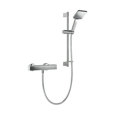 £131.21 • Buy Mira Thermostatic Mixer Shower Rear-Fed Exposed Chrome Silver Honesty EV