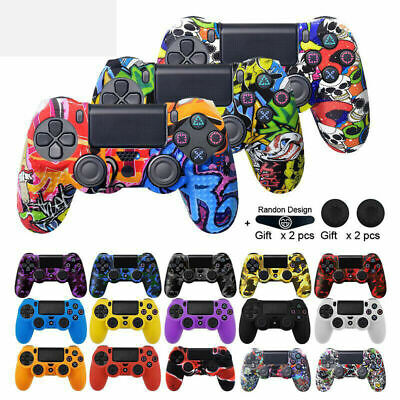 AU7.99 • Buy Silicone Rubber Graffiti Protective Controller Case Cover For PS4 Playstation 4