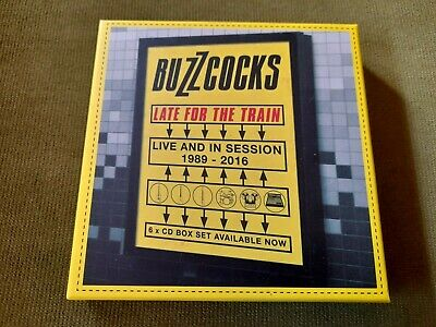 £24.99 • Buy BUZZCOCKS-LATE FOR THE TRAIN/LIVE & SESSIONS 1989-2016 6xCD BOXSET(CHERRY RED)