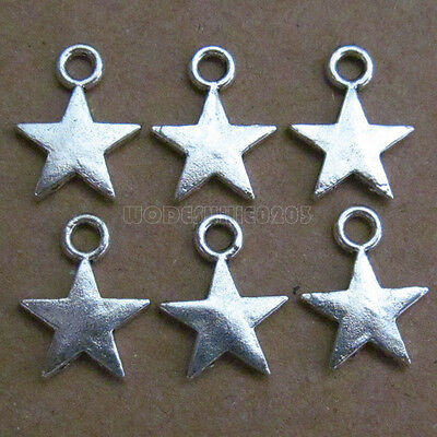 £1 • Buy 50pc Tibetan Silver Dangle Charms Star Beads Accessories Jewelry Findings PJ091