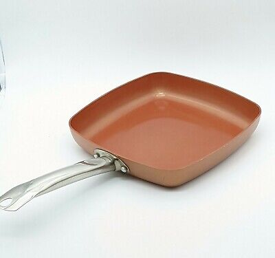 $14 • Buy  Copper Chef  9.5 Inch Square Frying Pan With Ceramic Non Stick Coating. Used