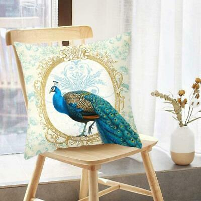 £2.38 • Buy Teal Blue&Green Peacock Square Feather Cushion Cover Pillow Case New Brand