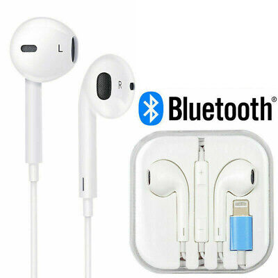 AU15.99 • Buy FAST Wired Bluetooth 8pin Earphones Headphones Mic For Apple IPhone Music
