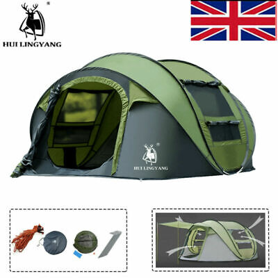 £100 • Buy 3-4 Person Big Family Camping Instant Pop Up Tents Waterproof Double Layer UK