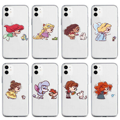 AU5.41 • Buy Little Girl Animals Case For IPhone 12 11 Pro XS MAX XR 8 7 6 Plus Clear Cover