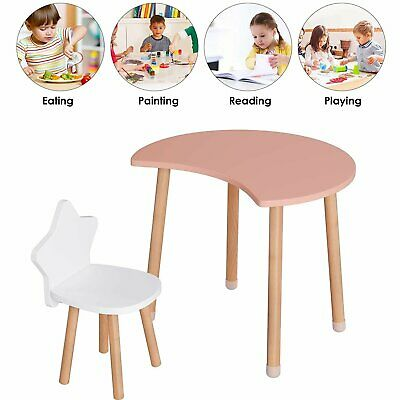 £30.99 • Buy Childrens Wooden Table And Chair Set Kids Toddlers Child Playroom Furniture Gift