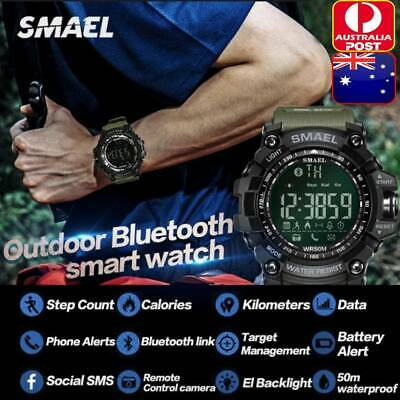 AU35.15 • Buy SMAEL Tactical Sport Wristwatches Bluetooth Smart Watches For IOS Android Phones