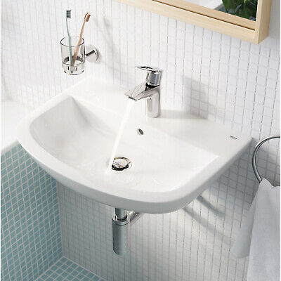 £43.99 • Buy Grohe Cloakroom Basin Bau Curved Wall-mounted Bathroom Sink With Single Tap Hole
