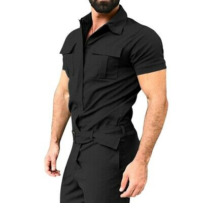 $21.99 • Buy Mens Fashion Vintage Casual Slim Overalls Short Sleeve Jumpsuits Rompers Pants