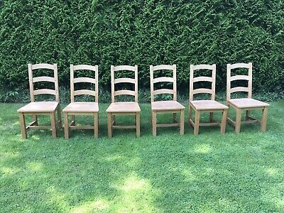 £120 • Buy 6 Solid Beech Ladderback Farmhouse Dining Chairs