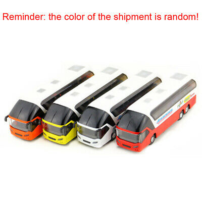 $ CDN21.03 • Buy 1/32 Double Decker Bus Car Model With Lights Sound Pull Back Vehicles Kids Toy