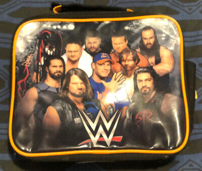 £0.99 • Buy WWE Lunch Bag Wrestling Character Logo Black Zip Up Food Container One Size