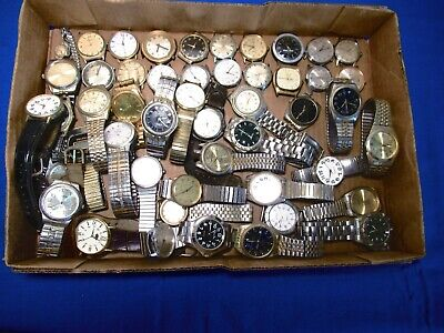 $ CDN22.03 • Buy 50 (+ Or -) Mostly Vintage Men's Watches For Parts Or Repairs