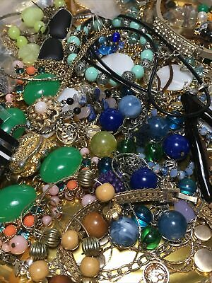 $ CDN14.99 • Buy Vintage To Now Junk Drawer Jewelry Lot Wearable, Repair, Craft Some Signed 1lb