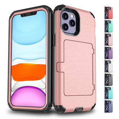 AU13.64 • Buy For IPhone 12 11 Pro Max XS XR 8 7 6 Plus SE2 Rugged Card Slot Wallet Case Cover