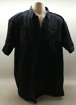 £7.99 • Buy Genuine Ex UK Border Force Navy Blue Male Shirt Home Office Uniform Security SIA