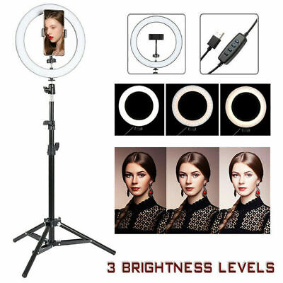 AU16.99 • Buy 10  14  Dimmable LED Ring Light Dimmable Lighting Kit Phone Tripod Stand Make Up