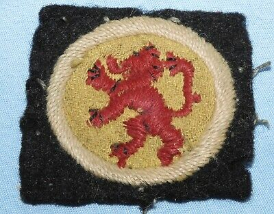 £4.20 • Buy WW2 15th SCOTTISH INFANTRY DIVISION FORMATION SIGN BADGE WORLD WAR II MILITARY