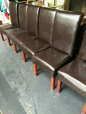AU160 • Buy Brown Leather Dining Chairs