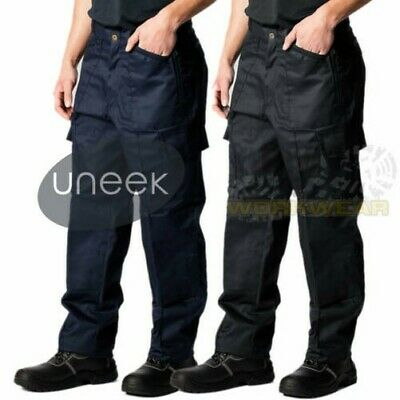 $11.09 • Buy Mens Work Cargo Pocket Combat Workwear Black Navy Army Trousers Military Pants