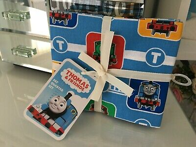 £3.20 • Buy Bundle Of 4 Thomas The Tank Engine Fat Quarters Fabric Material Mask Quilt Bn