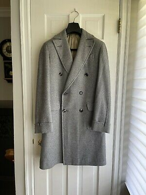 $495 • Buy Caruso Luxury Wool/Cashmere/Camel Gray Coat, Brand New, Size 50 EU