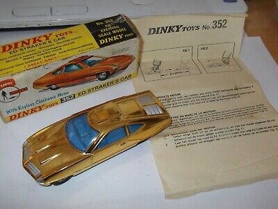 £103 • Buy Rare Vintage Dinky Toys 352 Ed Strakers Gold Car  Meccano Matchbox Mint In Box