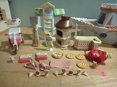 £14.99 • Buy Sylvanian Families Pizza Delivery And Crepe Shop