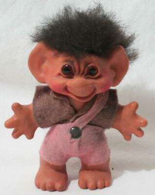 £12.50 • Buy Antique Vintage 1960s Thomas Dam Troll - 5 1/2  In Height - Boy In Pink Shorts