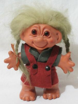 £18 • Buy Antique Vintage 1960s Thomas Dam Troll - 5 1/2  In Height - Girl With Plaits