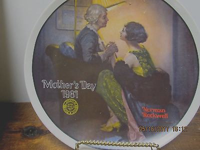 $ CDN17.61 • Buy Edwin Knowles-Norman Rockwell-Mother's Day-1981- After The Party  Plate-USA-NEW!