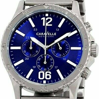 $45 • Buy Caravelle New York By Bulova Chronograph Stainless Steel Men's Watch 43A116