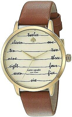 $ CDN92.38 • Buy Kate Spade Ladies Metro Written Number Watch With Brown Leather Band  Ksw9019