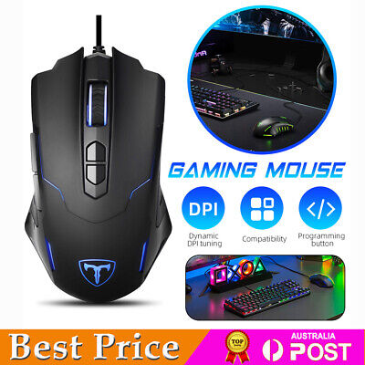 AU26.88 • Buy LED Optical Gaming Mouse Wired 7200 DPI Programmable USB Computer PC Game Mice