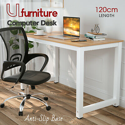 AU99.90 • Buy Computer Desk PC Laptop Table Student Home Office Study Wooden Metal Frame White