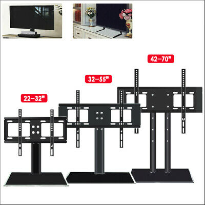 £18.99 • Buy 26 -70  Universal TV Stands LCD LED Flat Screen Table Pedestal Monitor Bracket