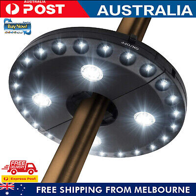 AU23.99 • Buy Patio Umbrella Light 28 LED 3 Lighting Modes Camping Tents For Outdoor Use Black