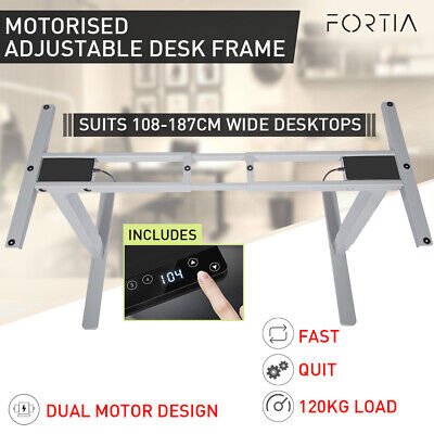 AU429 • Buy 【EXTRA10%OFF】FORTIA Height Adjustable Standing Desk Frame Only Sit Stand