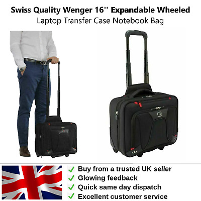 £49.95 • Buy Wenger 16'' Expandable Wheeled Laptop Transfer Case Notebook Bag Swiss Quality