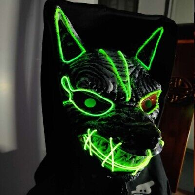 £7.59 • Buy Glow-Mask Wolf Man Werewolf Halloween Adult Full Mask Scary Costume Accessories