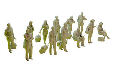 £6.08 • Buy Passengers And Pilots At The Airport Set Figures Resin Model Kit 1/144