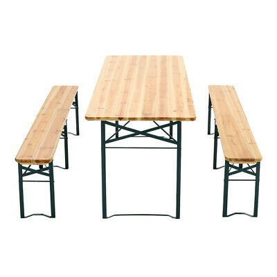 £195.95 • Buy 6-8 Seater Garden Camping Picnic Dining Tables Benches Set Wooden Trestle Chairs