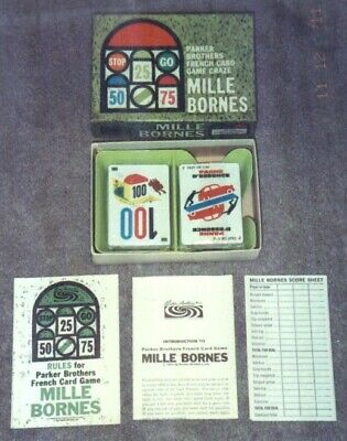$9.99 • Buy Mille Bornes Card Game 1962 Edition Parker Brothers Complete