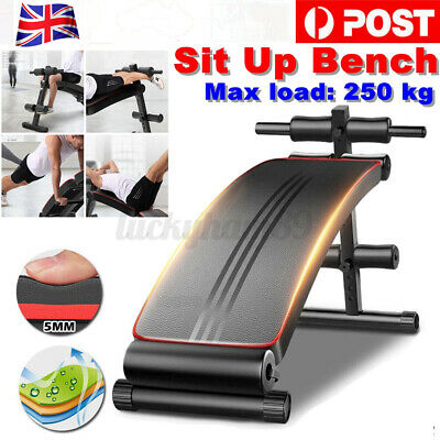 £29.99 • Buy Sit Up Bench Foldable Core AB Workout Adjustable Thigh Support Home Gym Fitness