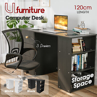 AU129.90 • Buy 120*50 Computer Desk Laptop Table Student Home Office Study W/3 Drawers&Shelves