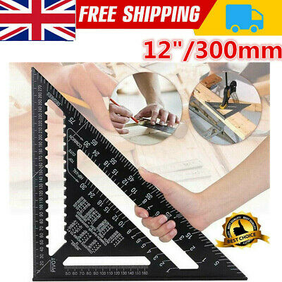 £8.50 • Buy 12  Aluminum Alloy Speed Square Quick Roofing Rafter Triangle Ruler Guide Tool
