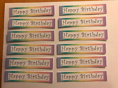 £2 • Buy Happy Birthday X 12  Rainbow Embellishments/toppers/card Making