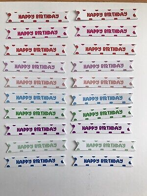 £2 • Buy Card Toppers X 20 Embellishments/toppers/card Making - Happy Birthday(SMALL)